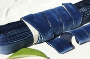 Dark Blue French Velvet Ribbon Trim 22mm
