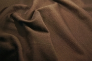 Dark Brown Stretch Cotton Spandex Knit Fabric 7 yards