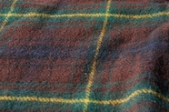 Dark Mulberry Green Yellow Plaid Wool Coating Fabric WL-183