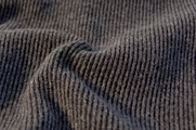 Designer Gray Black Medium Weight Ribbed Wool Blend Knit Fabric WL-310