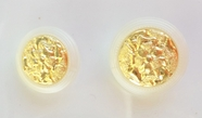 Embossed Gold Centered Bow Bouquet Pearl Colored Rim Vintage Shank Buttons (6pcs)