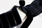 French Black Velvet Dress Ribbon Trim 16mm