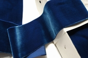 French Royal Blue Wide Velvet Ribbon 72mm