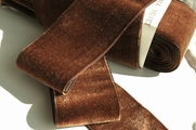 French Velvet Ribbon Antique Brown 50mm