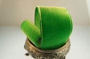 French Velvet Ribbon Grass Green 36mm