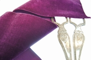 French Wide Velvet Ribbon Grape 72mm