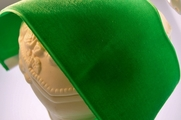 French Wide Velvet Ribbon Green 78mm