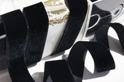 German Velvet Ribbon Black 24mm