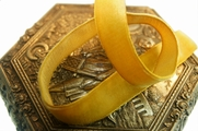 Gold French Velvet Ribbon Trim 16mm