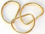 Gold Metal D Ring Buckle (4 pcs)