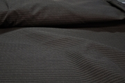 Grey Texture Striped Suiting Fabric with Fusible Interfacing # K-291
