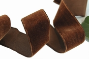 Havana Brown French Velvet Ribbon 36mm