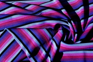 Spandex Stretch Designer Purple Striped Knit Fabric