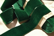 Hunter Green French Velvet Ribbon 36mm