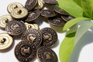 "Independence 1776 Liberty Vintage Embossed Metal Buttons 7/8"" inch (8 pcs)"