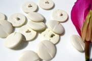 "Ivory Vintage Shank Fashion Buttons 1"" inch (10 pcs)"