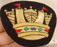 King Crown Embroidered Bullion Crest Patches