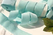 Light Aqua French Velvet Ribbon 25mm