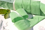 Light Lime French Velvet Ribbon 36mm