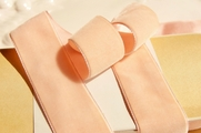 Light Peach French Ribbon Velvet Trim 36mm