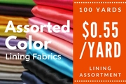 Lining Assortment 100 yards