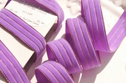 Metallic Gold Striped Lavender Swiss Velvet Ribbon 22mm