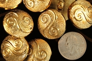 "Metallic Gold Vintage Swirl Fashion Buttons 1"" inch (10 pcs)"