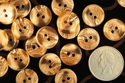 "Multi Tan White 2 Hole Buttons 5/8"" inch (15 pcs)"