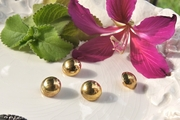 """Old Vintage Gold Metal Dome Buttons 5/8"""" inch (12 pcs)"""