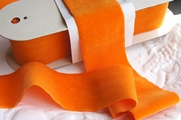 Orange French Wide Velvet Fabric Ribbon 70mm