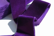Purple Plum French Velvet Ribbon Trim 50mm