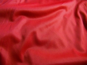 """110"""" Extra Wide Red Sheer Tricot Fabric 1 Yard"""