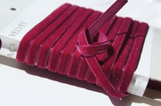 Ruby French Ribbon Velvet Trim 6mm