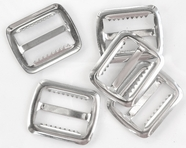 Silver Metal Buckle with Teeth (6pcs)