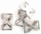 Silver Metal Cross X Buckles for Straps or Belts (2 pcs)