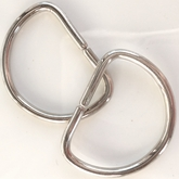 Silver Metal D Ring Buckle (4 pcs)