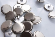 "Silver Metal Vintage Shank Buttons 7/8"" inch (10 pcs)"