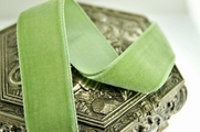 Soft Lime French Velvet Ribbon Trim 24mm