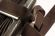 Swiss Taupe Brown Velvet Ribbon 36mm