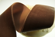 Swiss Taupe Brown Velvet Ribbon 48mm