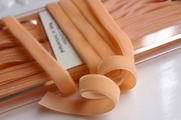 Swiss Velvet Ribbon Tan Peach 9mm