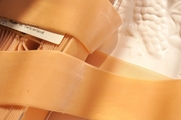 Tan Peach Swiss Velvet Ribbon 50mm