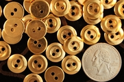 "Vintage 2 Hole Gold Shirt Buttons 1/2"" inch (12 pcs)"