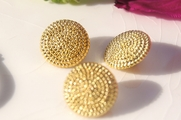 "Vintage Fashion Gold Shank Buttons 3/4"" inch (15 pcs)"