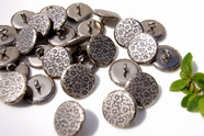 "Vintage Flower Shank Metal Buttons 3/4"" inch (8 pcs)"