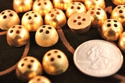"Vintage Gold Metal Dome 4 hole Buttons 1/2"" inch (12 pcs)"