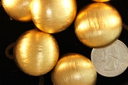 "Vintage Matte Gold Metal Dome Buttons 1 1/8"" inch (6 pcs)"