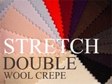 Stretch Double Wool Crepe Fabrics