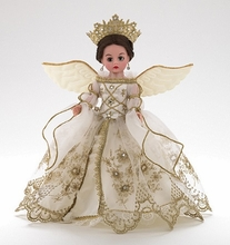 "10"" GOLDEN CHRISTMAS ANGEL - click for actual close-up"