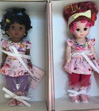 "8"" FANCY NANCY & BREE - 2 doll set - MADCC"
